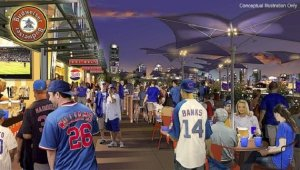 Photo: Chicago Cubs Conceptual Image of Renovated Wrigley Field